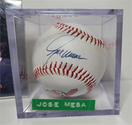 Cleveland Indians Closer Jose Mesa Signed Baseball