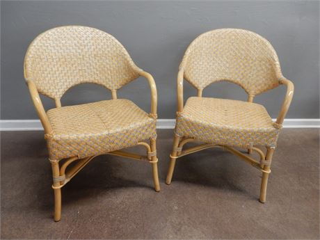 Rattan Style Wicker Chairs
