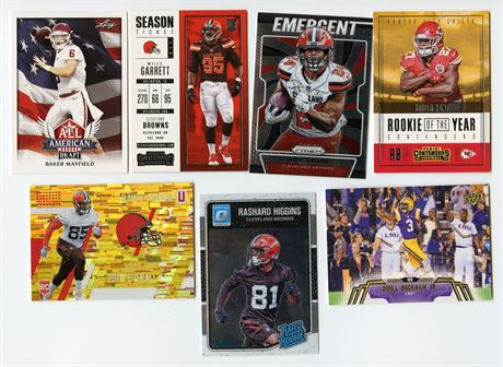 CLEVELAND BROWNS ROOKIE & STAR LOT BAKER MAYFIELD MYLES GARRETT NICK CHUBB HUNT