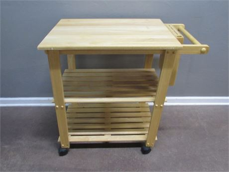 Nice Kitchen Utility Cart/Cutting Board on Casters