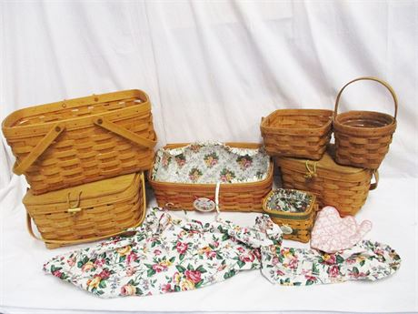 LOT OF BEAUTIFUL LONGABERGER BASKETS FEATURING MOTHER'S DAY