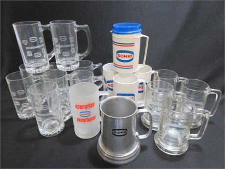 Vintage SOHIO / STANDARD OIL Tankard Mugs