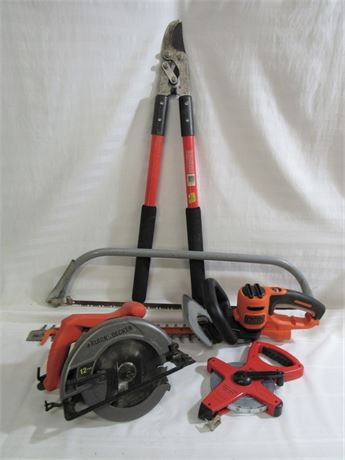 LAWN AND GARDEN/TOOLS LOT - 5 PIECES