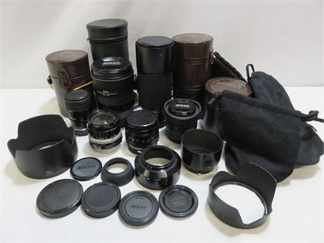 Professional Camera Lenses & Accessories Lot