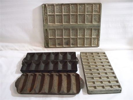 VINTAGE BAKING/CANDY MOLD LOT - 4 PIECES - INCLUDES GRISWOLD