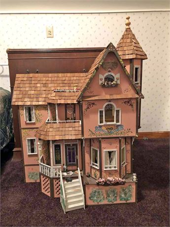 Large Doll House & Furniture