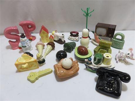Porcelain Figurines/Salt & Pepper Shaker Collection