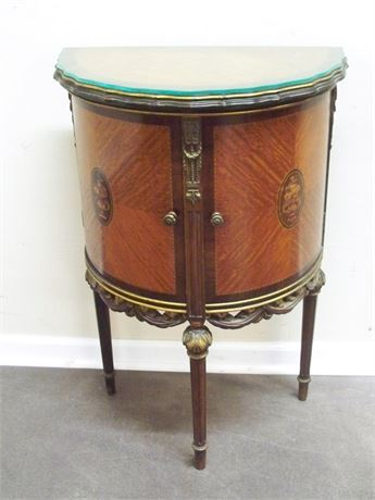 GREAT LOOKING ANTIQUE DEMILUNE/CABINET