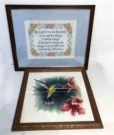 Famed Embroidered Cross Stitch