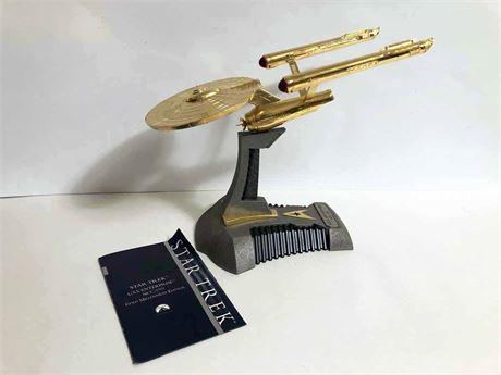 Star Trek U.S.S. Enterprise Gold Millennium Edition