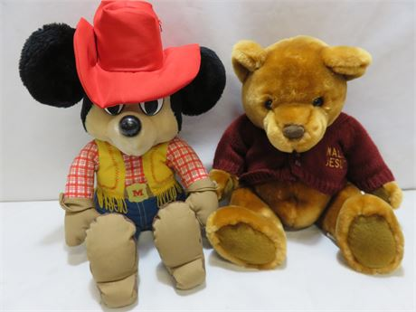 Walt Disney Mickey Mouse Cowboy Plush Doll