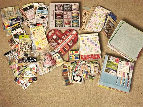 Large Scrapbooking Lot