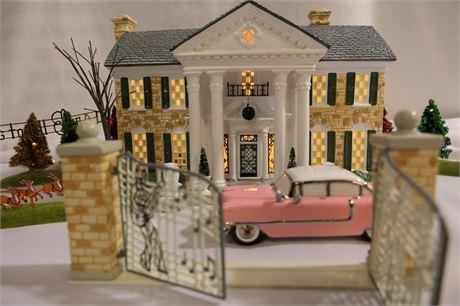Dept 56 Elvis Presley's Graceland Special Edition Set, Snow Village, RETIRED