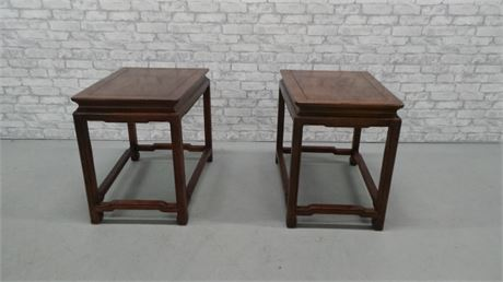 Mid Century Wooden End Tables