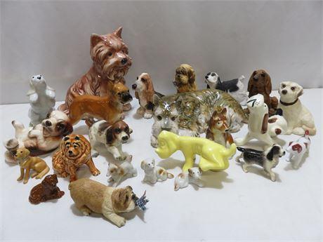 Dog Figurine Lot