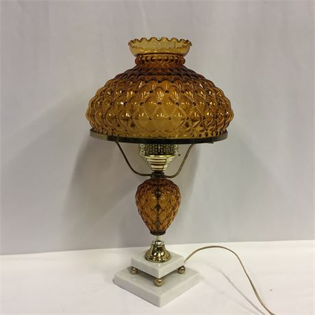 VINTAGE HURRICANE TABLE LAMP