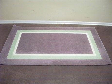 LAVENDER AND PASTEL GREEN AREA RUG