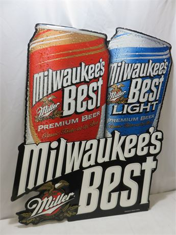 Milwaukee's Best Tin Beer Sign