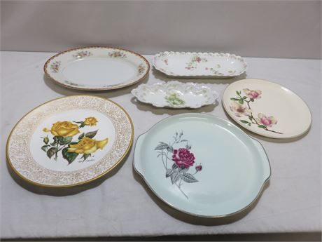 6-Piece Porcelain China Plate Lot