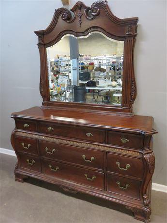 UNIVERSAL FURNITURE Cherry Dresser & Mirror