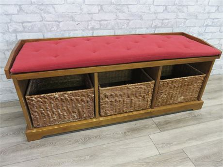 Knotty Pine Storage Bench