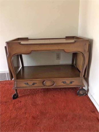 Vintage Drop Leaf Caster Table