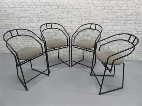 Set of 4 Contemporary Bar Stools