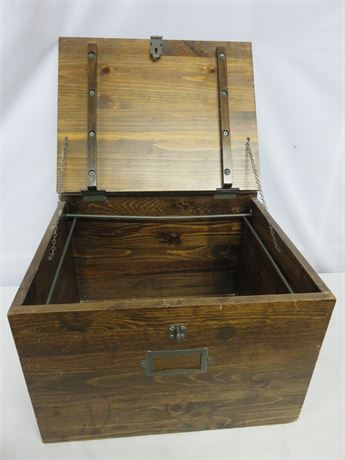 Vintage Wooden Filing Box