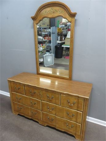 STANLEY French Provincial Triple Dresser & Mirror