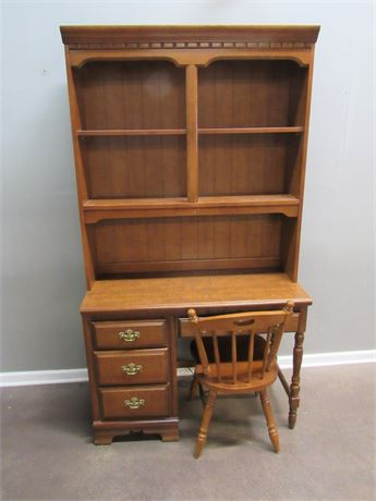 Bassett Desk with Hutch and Chair