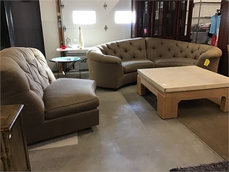 Vincent Wolf 3 Piece Sectional / Sofa Wide Chair