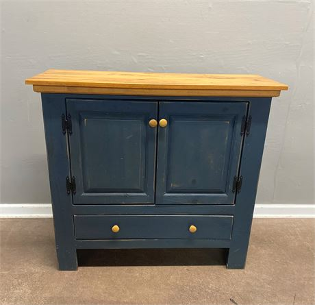 Farmhouse Style Painted Cabinet