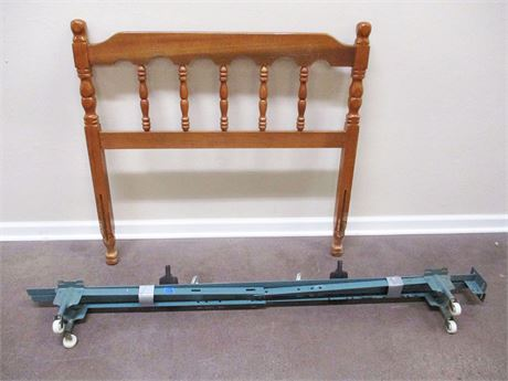 TWIN HEADBOARD AND BED RAILS
