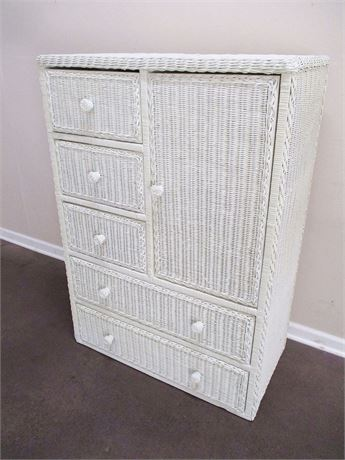 WICKER CLOTHING ARMOIRE BY TYPHOON INTERNATIONAL