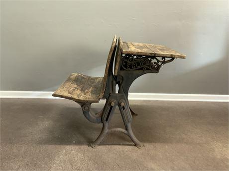 Antique Eclipse School Desk