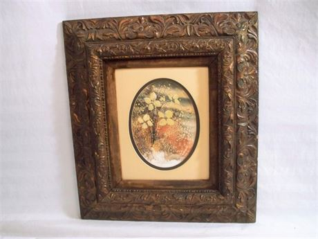 NICELY FRAMED AND MATTED FLORAL ARTWORK BY DONNA WATSON