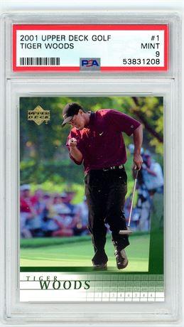 2001 Upper Deck Golf Tiger Woods Rookie PSA 9
