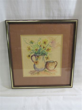 FRAMED AND DOUBLE MATTED H. BALWIN STILL LIFE
