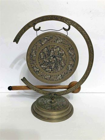 India Etched Brass Gong