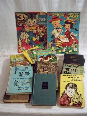 VINTAGE/ANTIQUE MISC. BOOK LOT - 18 PIECES