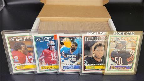1983 TOPPS FOOTBALL COMPLETE SET, MARCUS ALLEN, MIKE SINGLETARY, LT ROOKIES