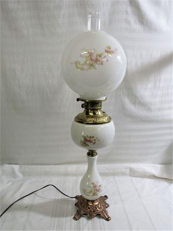 Vintage Tall Hurricane Lamp