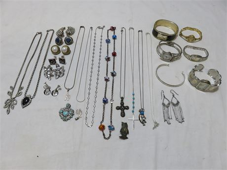 Vintage Jewelry & Watches Lot