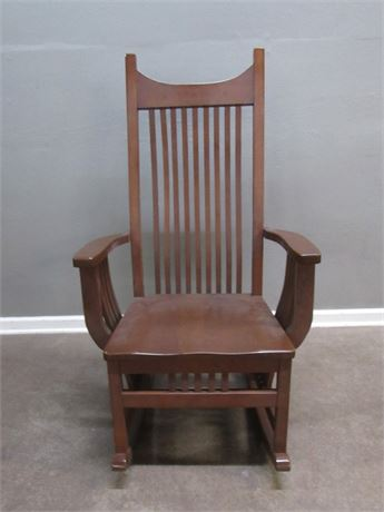 Mission Style Wood Rocking Chair