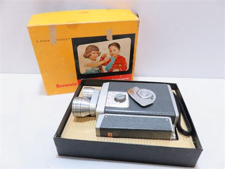 Vintage KODAK Brownie Turret Movie Camera