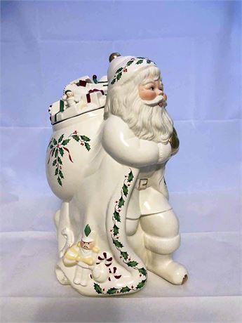 Lenox Holiday Santa Cookie Jar