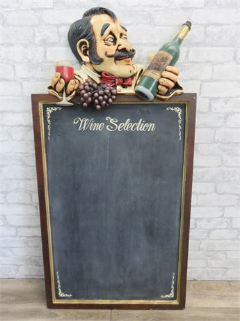 Allan Agohob Chef Restaurant/Kitchen Wine Selection Chalkboard