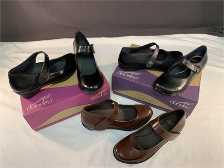 3 Pairs of New Dansko Shoes