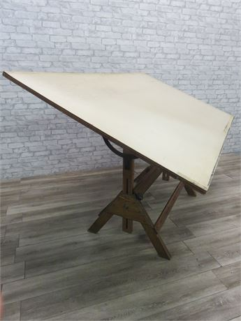 Vintage Large Hamilton Drafting Table