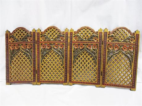 VINTAGE TABLE-TOP DIVIDER SCREEN